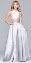 Faviana Mikado Two Piece Open Back Prom Dress