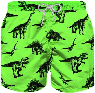 MC2 Saint Barth Dinosaurs Print Boys Swim Trunks