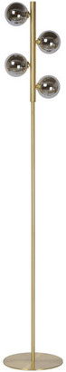 Ren Wil Neptuna Contemporary Satin Brass Floor Lamp