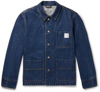 A.P.C. + Carhartt Wip Logo-Appliqued Denim Chore Jacket