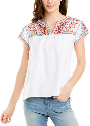 Johnny Was Linen Blouse