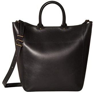 Madewell Abroad Tote (True Black) Handbags