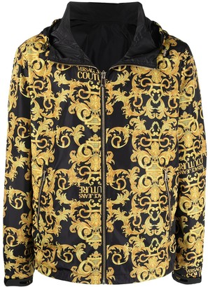 Versace Jeans Couture Baroque-Print Hooded Windbreaker