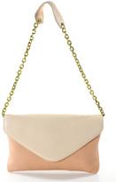 J.Crew J Crew Blush Pink Medium Size Envelope Shoulder Handbag