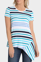 Regatta Splice Stripe Asymmetric Short Sleeve Tee