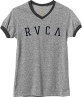 RVCA Junior's Arc Slub Jersey V Neck Tee