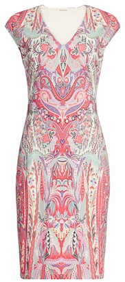 Etro Paisley Jersey Midi Dress