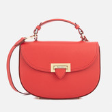 Aspinal of London Women's Letterbox Saddle Bag Scarlet