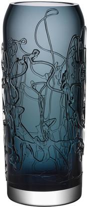 Kosta Boda Orrefors Twine Large Vase, Grey