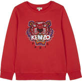 Kenzo Embroidered tiger logo cotton jumper 4-16 years