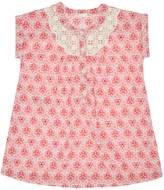 Benetton Baby Lace Trim Short-Sleeve Floral Dress