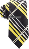 Jf J.Ferrar JF Kyle Plaid Tie and Tie Bar Set - Slim
