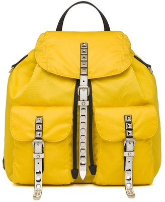Prada studded detail backpack
