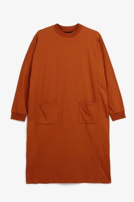 Monki Crew-neck midi dress