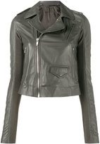 Rick Owens Grey classic biker jacket - women - Leather - 38