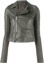 Rick Owens Grey classic biker jacket - women - Leather - 42