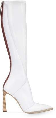Fendi FFrame pointed toe boots