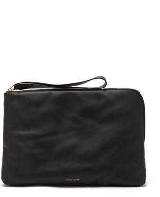 Mansur Gavriel Pillow Pouch Leather Clutch - Black Multi