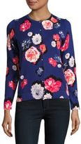 Lord & Taylor Fresh Floral Button-Down Cardigan