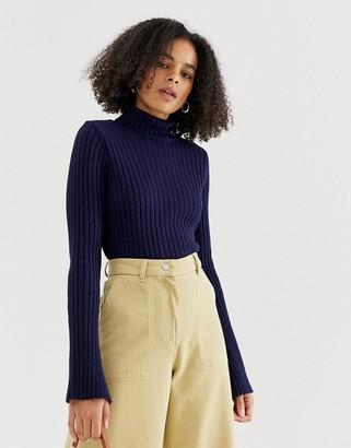 Asos DESIGN rib roll neck sweater