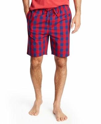 Wh80s9 Nautica Men's Soft Woven 100% Cotton Elastic Waistband Sleep Pajama Short