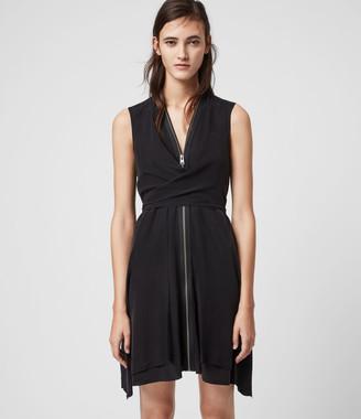 AllSaints Jayda Silk Dress