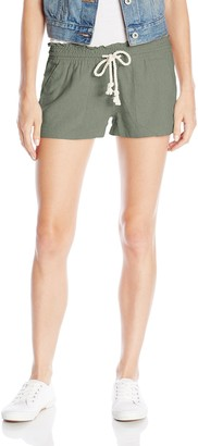 Roxy Women's Oceanside Elastic Waist Non Denim Shorts