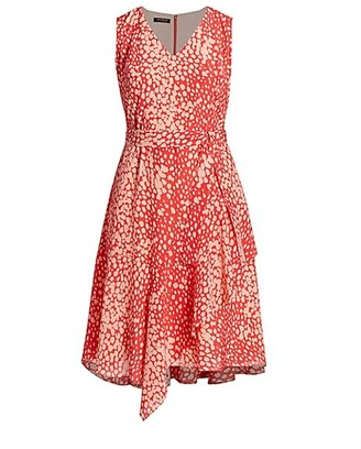 Lafayette 148 New York, Plus Size Telson Dotted Tie Dress