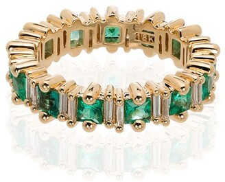 Suzanne Kalan 18kt Yellow Gold Emerald And Diamond Ring