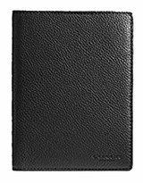 Coach Pebbled Leather Passport Case Travel Wallet in 93604