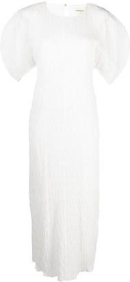 Mara Hoffman Puff-Sleeve Midi Dress