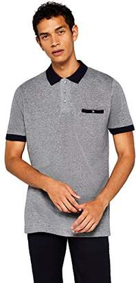 find. Men's Contrast Collar Polo Shirt,Large