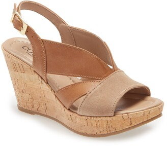Cordani Randie Platform Wedge Slingback Sandal