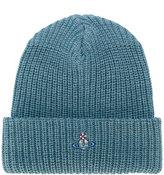 Vivienne Westwood ribbed logo beanie hat