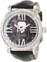 Colosseum Italico Men's Marbleized Dial Leather Watch Black ITCS02-F
