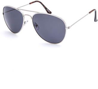 Blue Crown Brandon Silver Boys Aviator Sunglasses