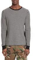 Ovadia & Sons Men's Stripe Waffle Knit Wool Sweater