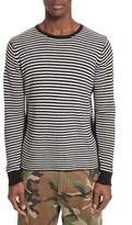 Ovadia & Sons Stripe Waffle Knit Wool Sweater