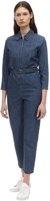 A.P.C. Combi Cotton Denim Jumpsuit