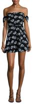 Lucca Couture Off Shoulder A-Line Dress