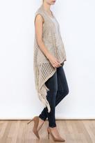 Vero Moda Metallic Knit Fringe Vest