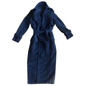 Michael Lo Sordo Black Cotton Coat for Women