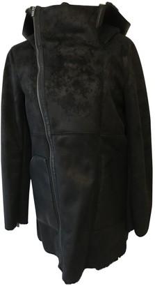 The Kooples Black Shearling Coat for Women