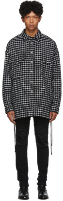 Faith Connexion Black and White Wool Tweed Laced Over Shirt