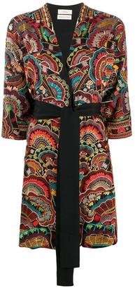 CHUFY Urma embroidered robe jacket