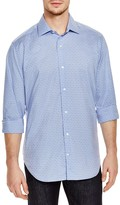 Tailorbyrd Grid Geo Print Classic Fit Button-Down Shirt