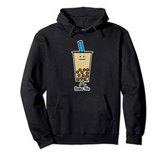 Boba Bubble Pearl Milk Tea Tapioca balls with straw Pullover Hoodie