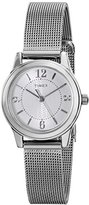 Timex Women's T2P4579J Main Street Modern Minis Silver-Tone Watch