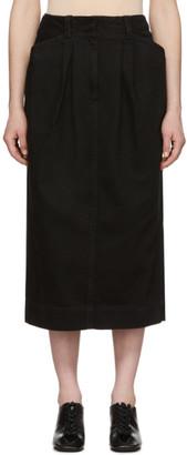 Lemaire Black Denim Baggy Skirt