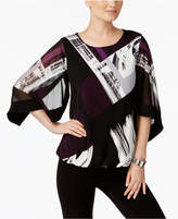 Alfani Printed Bubble-Hem Top, Created for Macy's